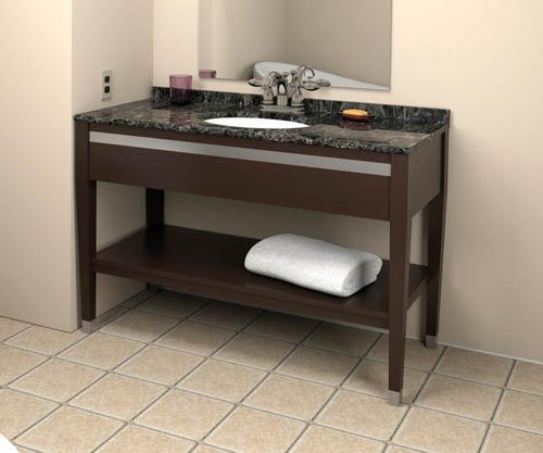 Vanity, Cocoa with Black Marble