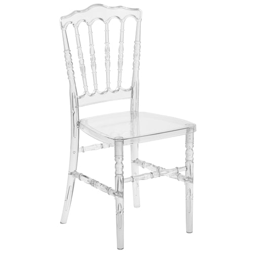Flash Elegance Crystal Ice Napoleon Stacking Chair [BH-H002-CRYSTAL-GG]