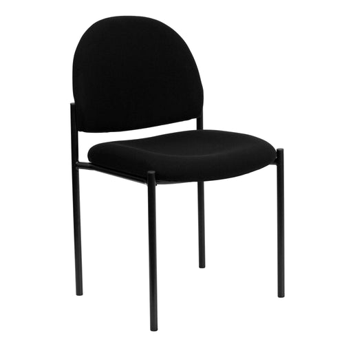 Comfort Black Fabric Stackable Steel Side Reception Chair [BT-515-1-BK-GG]