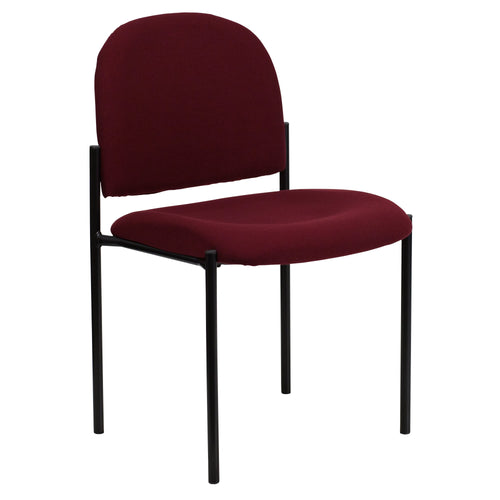 Comfort Burgundy Fabric Stackable Steel Side Reception Chair [BT-515-1-BY-GG]