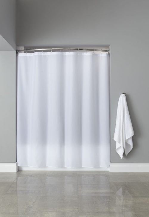 Hooked BASIC POLY FABRIC Shower Curtain - Case of 12