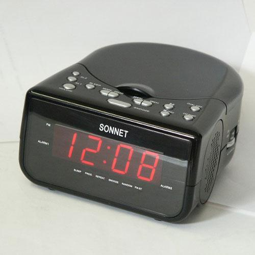 Clock Radio with CD Player with Aux in Cord