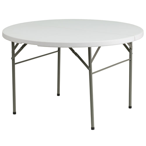 48'' Round Bi-Fold Granite White Plastic Folding Table [DAD-122RZ-GG]
