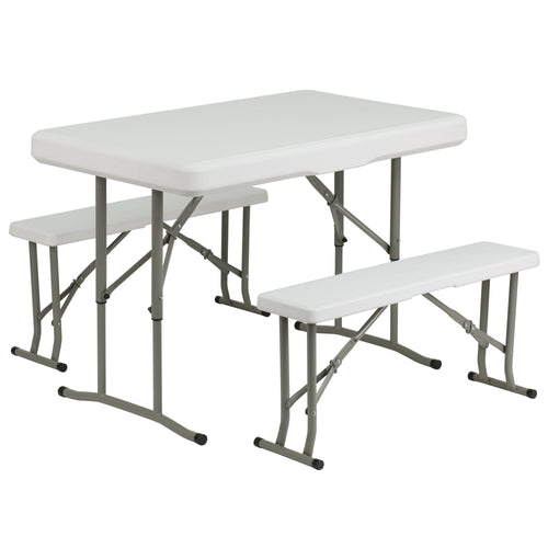 Plastic Folding Table and Bench Set [DAD-YCZ-103-GG]