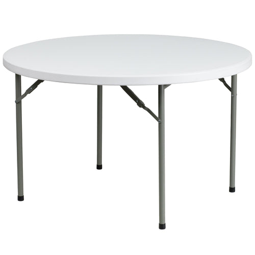 48'' Round Granite White Plastic Folding Table [DAD-YCZ-122R-GG]