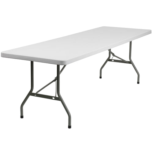 30''W x 96''L Granite White Plastic Folding Table [DAD-YCZ-244-GW-GG]