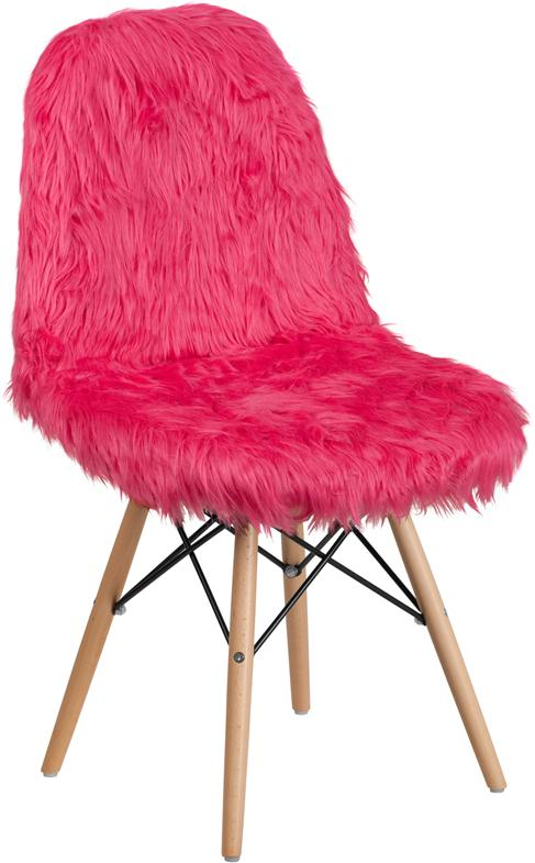 Shaggy Dog Hot Pink Accent Chair [DL-1-GG]