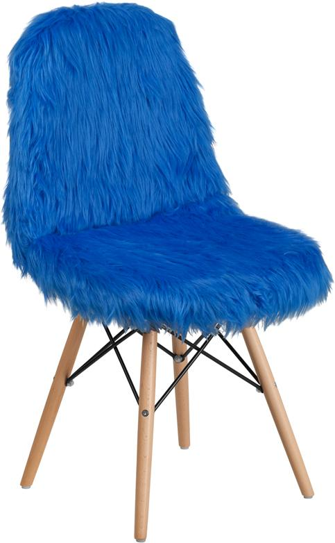 Shaggy Dog Cobalt Blue Accent Chair [DL-2-GG]