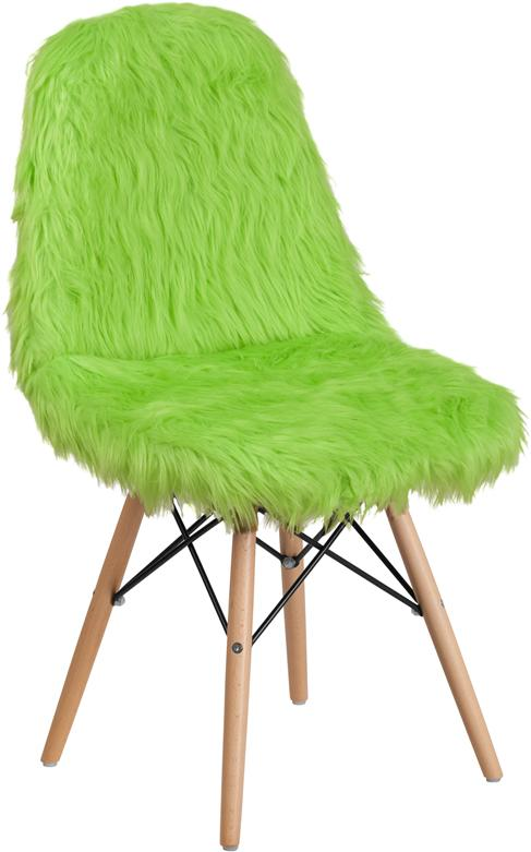 Shaggy Dog Fluorescent Green Accent Chair [DL-3-GG]