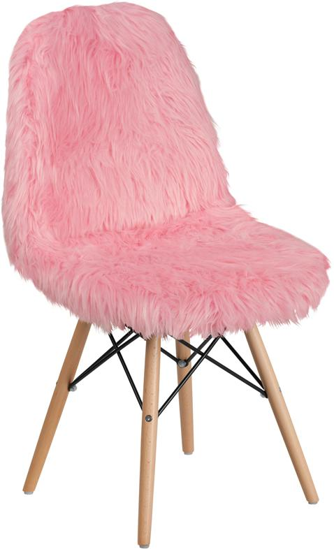 Shaggy Dog Light Pink Accent Chair [DL-8-GG]