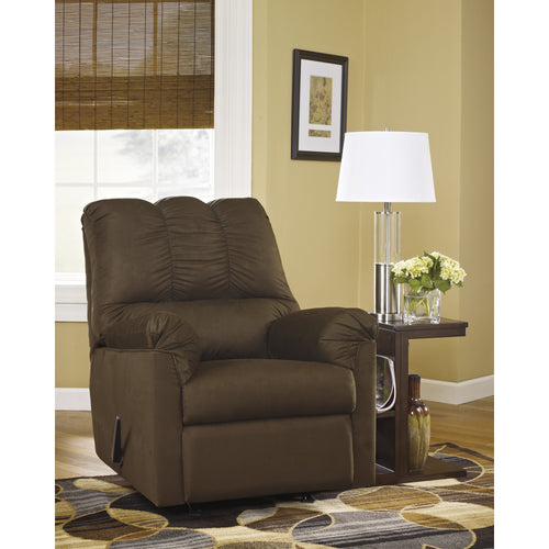 Signature Design by Ashley Darcy Rocker Recliner in Cafe Microfiber [FSD-1109REC-CAF-GG]