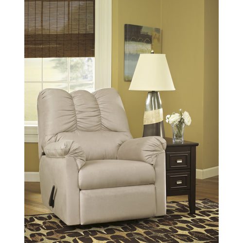 Signature Design by Ashley Darcy Rocker Recliner in Stone Microfiber [FSD-1109REC-STO-GG]