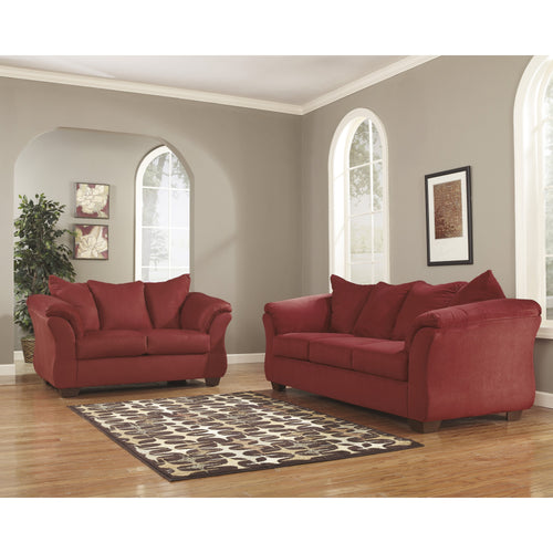 Signature Design by Ashley Darcy Living Room Set in Salsa Microfiber [FSD-1109SET-RED-GG]