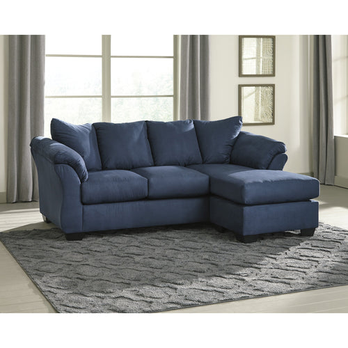 Signature Design by Ashley Darcy Sofa Chaise in Blue Microfiber [FSD-1109SOFCH-BLU-GG]