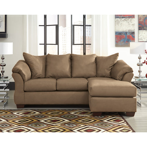 Signature Design by Ashley Darcy Sofa Chaise in Mocha Microfiber [FSD-1109SOFCH-MOC-GG]