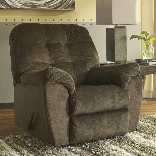 Signature Design by Ashley Accrington Rocker Recliner in Earth Microfiber [FSD-1339REC-ERT-GG]