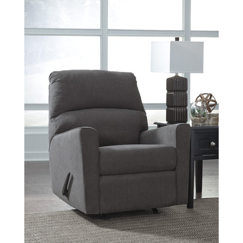 Signature Design by Ashley Alenya Rocker Recliner in Charcoal Microfiber [FSD-1669REC-CH-GG]