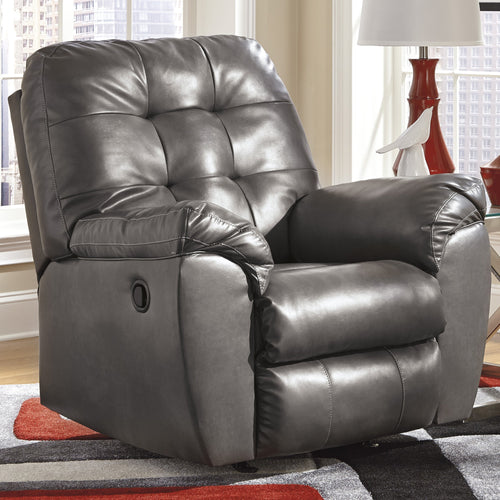 Signature Design by Ashley Alliston Rocker Recliner in Gray DuraBlend [FSD-2399REC-GRY-GG]