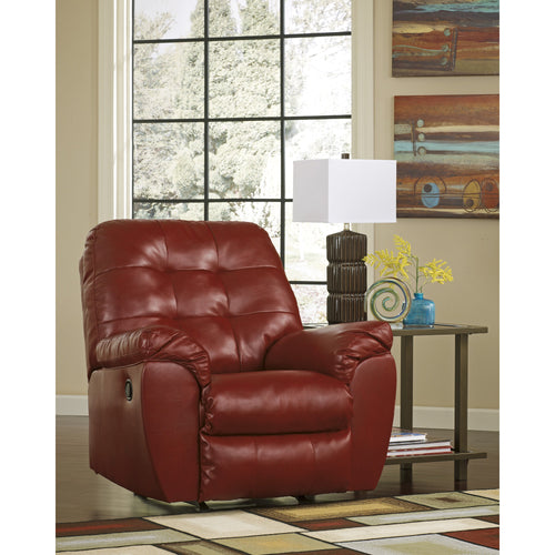 Signature Design by Ashley Alliston Rocker Recliner in Salsa DuraBlend [FSD-2399REC-RED-GG]