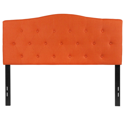 Cambridge Tufted Upholstered Full Size Headboard in Orange Fabric [HG-HB1708-F-O-GG]
