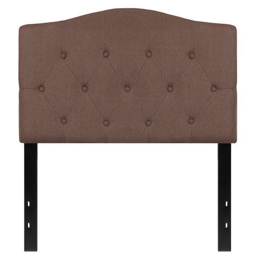 Cambridge Tufted Upholstered Twin Size Headboard in Camel Fabric [HG-HB1708-T-C-GG]