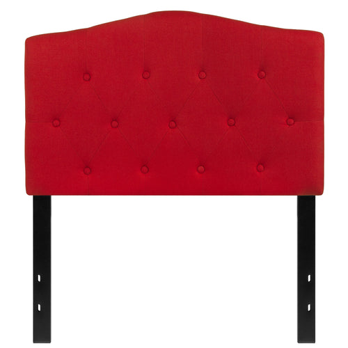 Cambridge Tufted Upholstered Twin Size Headboard in Red Fabric [HG-HB1708-T-R-GG]