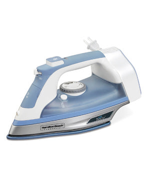 Hamilton Beach Durathon Full-Size Iron with Retractable Cord,Blue/White Model HIR750-Case of  4