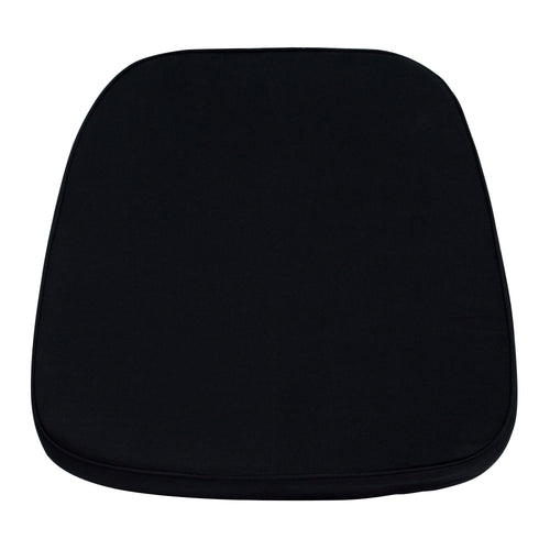 Soft Black Fabric Chiavari Chair Cushion [LE-L-C-BLACK-GG]
