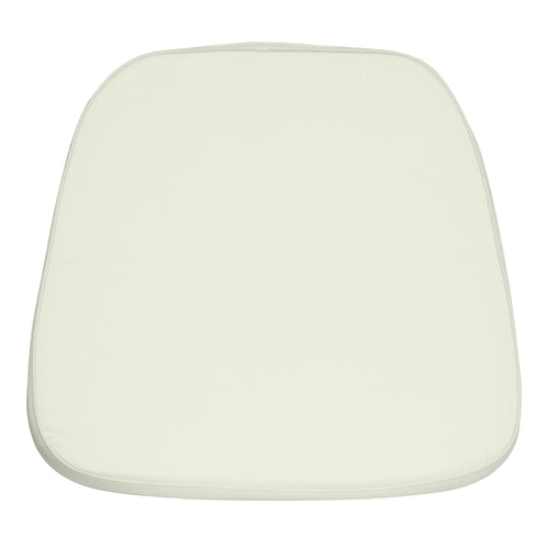 Soft Ivory Fabric Chiavari Chair Cushion [LE-L-C-WHITE-GG]