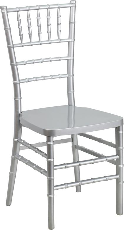 HERCULES PREMIUM Series Silver Resin Stacking Chiavari Chair [LE-SILVER-GG]