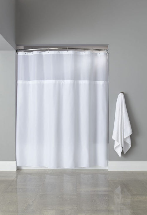 Hooked POLY PREMIUM FABRIC Shower Curtain - Case of 12