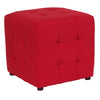Avendale Tufted Upholstered Ottoman Pouf in Red Fabric [QY-S02-RD-GG]