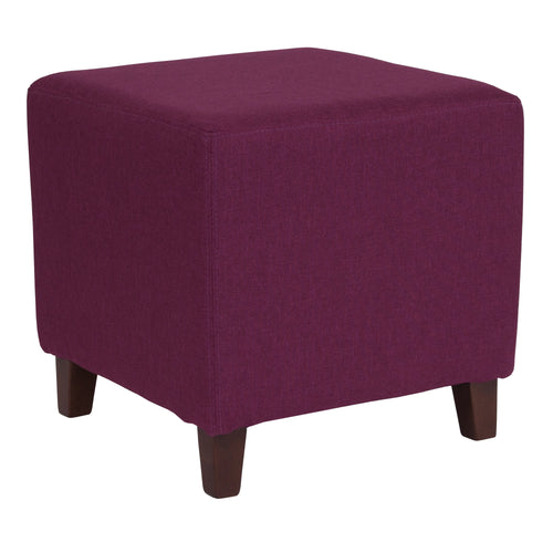 Ascalon Upholstered Ottoman Pouf in Purple Fabric [QY-S09-PRP-GG]