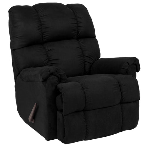 Riverstone Sierra Black Microfiber Rocker Recliner [RS-100-03-GG]