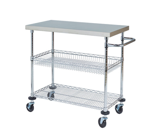 Stainless Steel Serving Cart