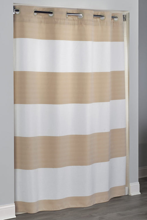 Hookless Sonoma -Stripe 71 X 77 Fabric Boutique Shower Curtain -NEW - Case of 12