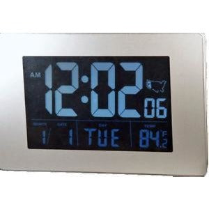 "Atomic Clock with 1.75"" White Time Numbers and AC Adapter"