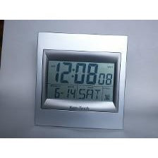 "Atomic LCD Wall or Desk Clock with 2"" Numbers"