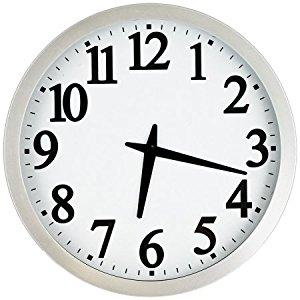"Atomic 12"" Analog Wall Clock with 1.5"" Time Number"
