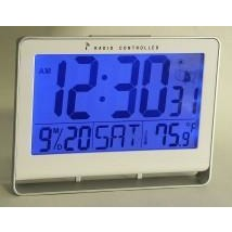 "Atomic Clock with 2"" LCD Numbers with Bright Light on Demand, Date & Temperature"