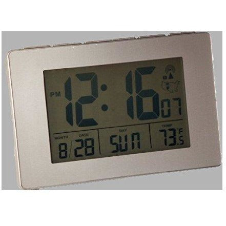 "Atomic 1.75"" LCD Alarm Clock with Light on Demand"