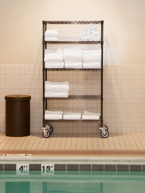 Epoxy Coated Towel Cart-18 X 36 X 63