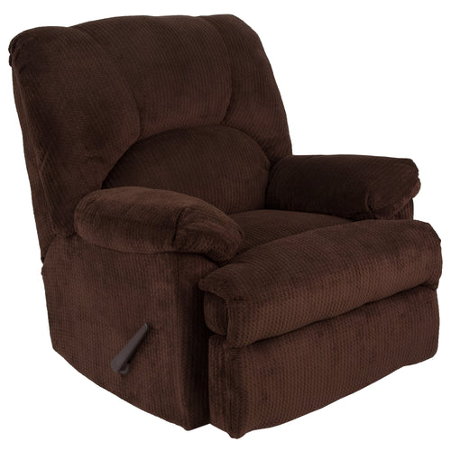 Contemporary Feel Good Chocolate Microfiber Rocker Recliner [WA-8500-269-GG]