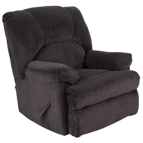 Contemporary Feel Good Slate Microfiber Rocker Recliner [WA-8500-270-GG]