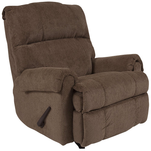 Contemporary Kelly Bark Super Soft Microfiber Rocker Recliner [WA-8700-116-GG]