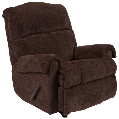 Contemporary Kelly Chocolate Super Soft Microfiber Rocker Recliner [WA-8700-118-GG]