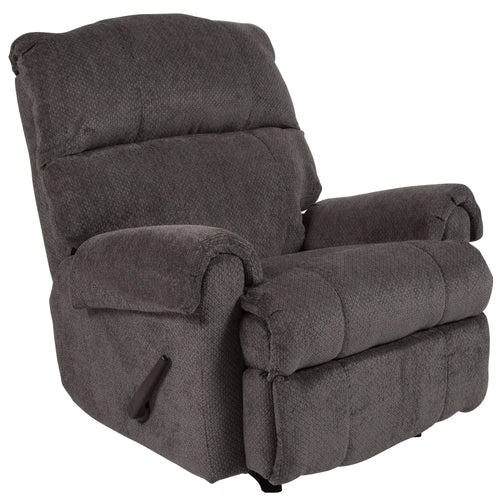 Contemporary Kelly Gray Super Soft Microfiber Rocker Recliner [WA-8700-119-GG]