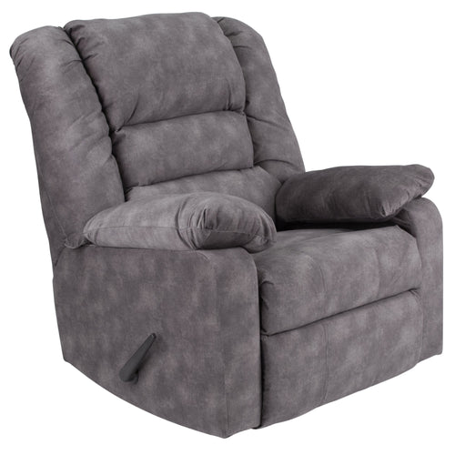 Contemporary Super Soft Cody Gray Microfiber Rocker Recliner [WA-8810-100-GG]