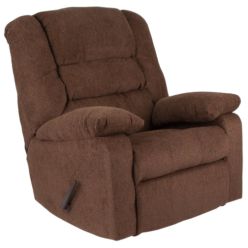 Contemporary Super Soft Jesse Chocolate Chenille Rocker Recliner [WA-8810-500-GG]