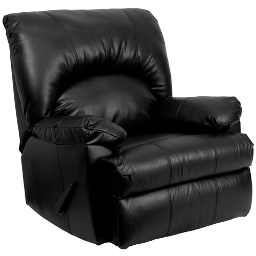 Contemporary Apache Black Leather Rocker Recliner [WM-8500-371-GG]